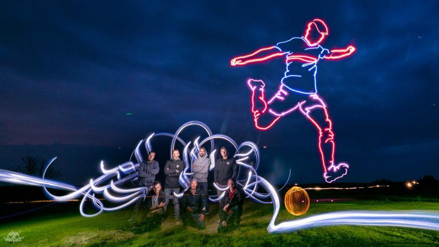 Pintar con drones de luz, el último gol de Frodo Álvarez