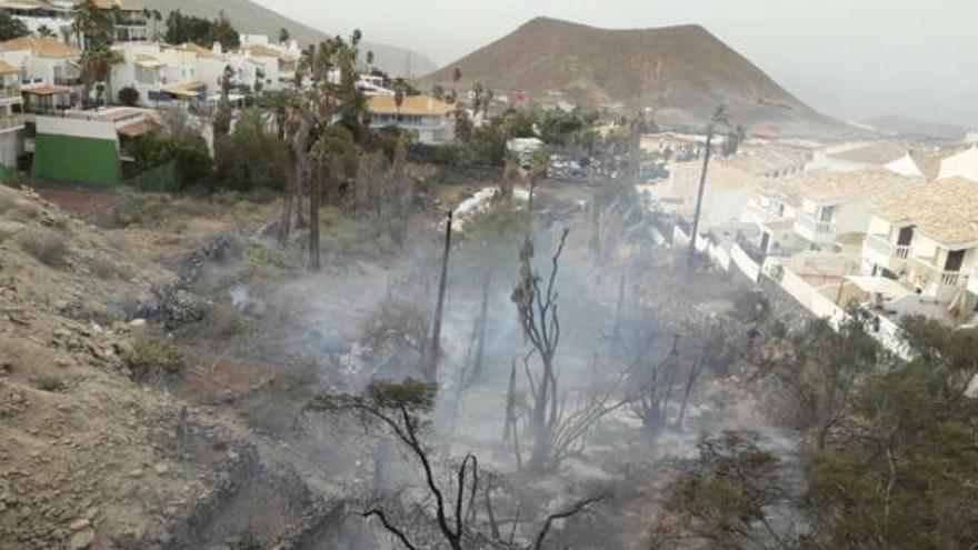 Un incendio obliga al desalojo de 60 personas en el sur de Tenerife