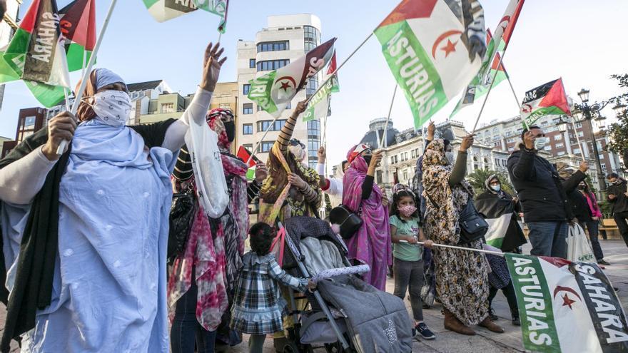 La manifestación saharaui contra la ocupación marroquí, en imágenes