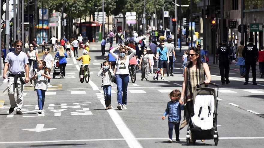 Los peatones tomarán la Gran Vía los domingos durante cuatro horas