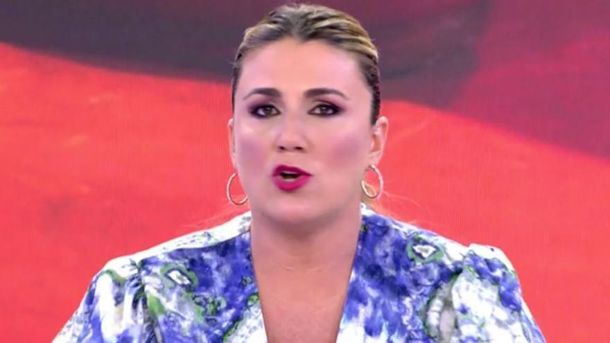 """Carlota Corredera abandona el plató en directo: """"Basta ya, si sigues con eso me voy"""""""