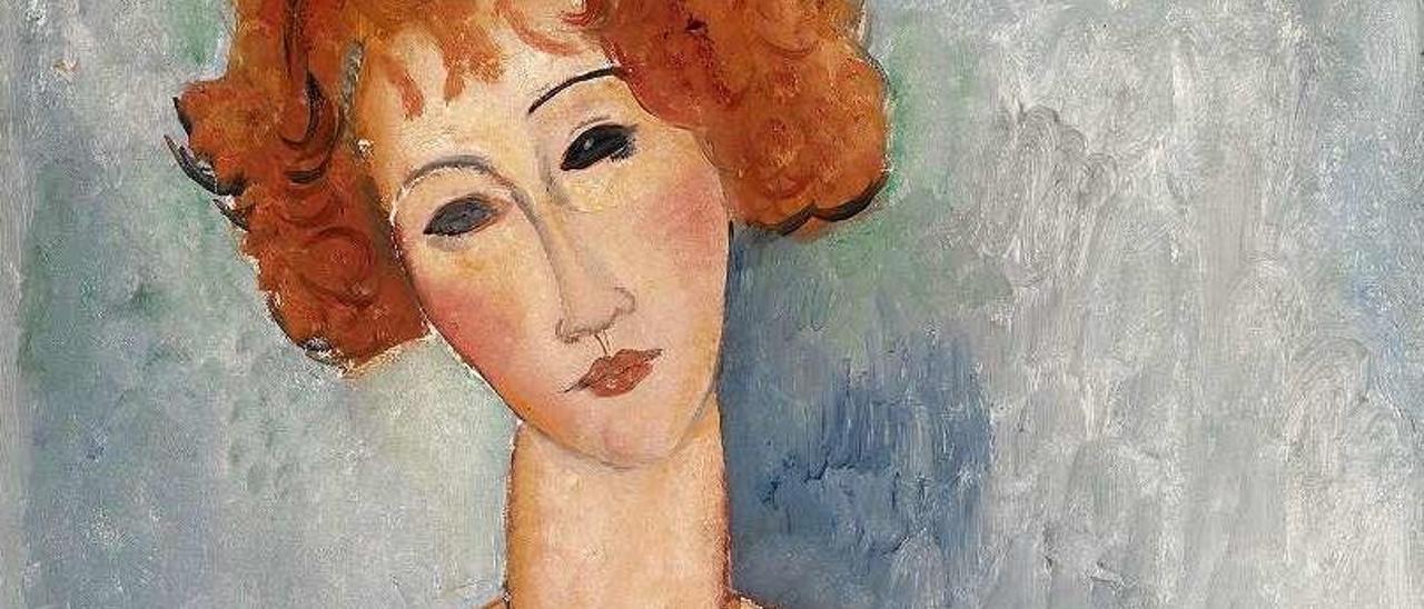 Obra de Modigliani de la colección Koplowitz que se exhibe en Bilbao.