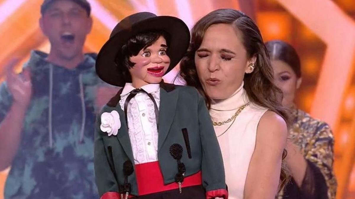 La ventriloqua Célia Muñoz.