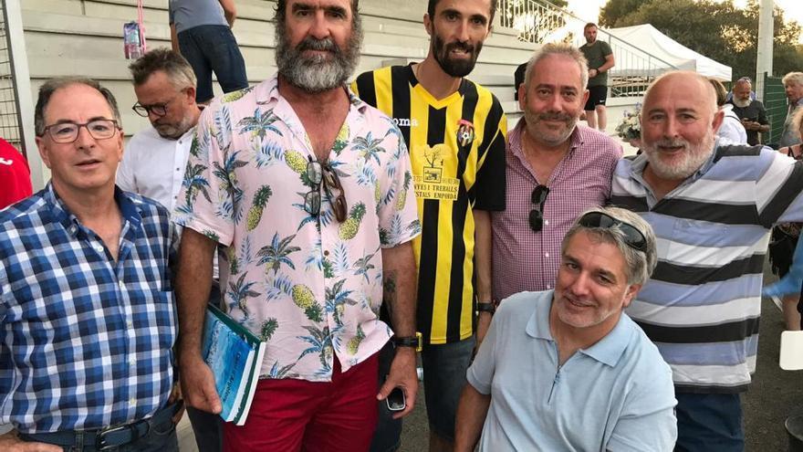 Éric Cantona, espectador de luxe a la pretemporada de l'Espolla