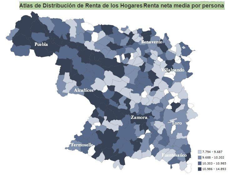 Riqueza de los municipios de Zamora