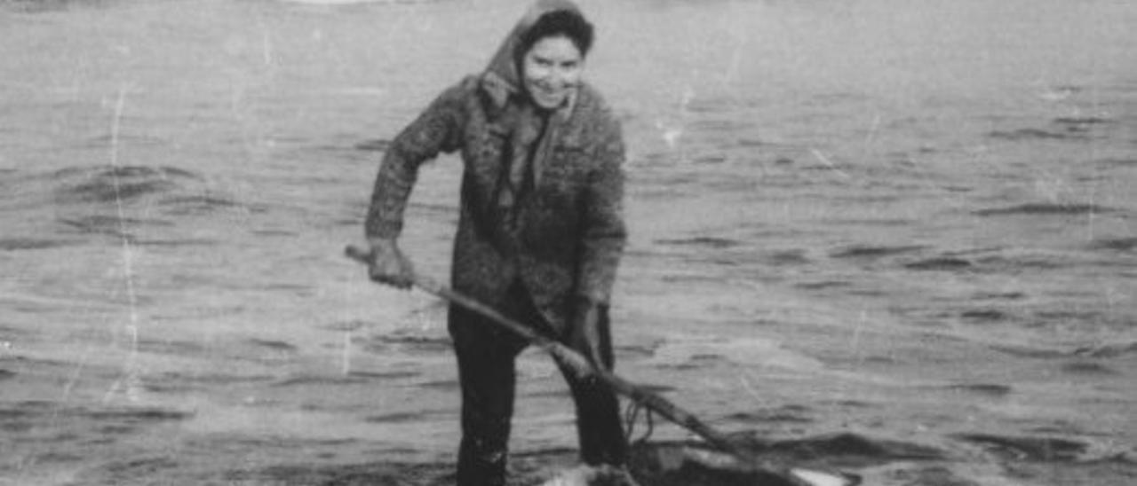 """Una de las """"mineras de la mar"""", fotografiada en Los Quebrantos."""