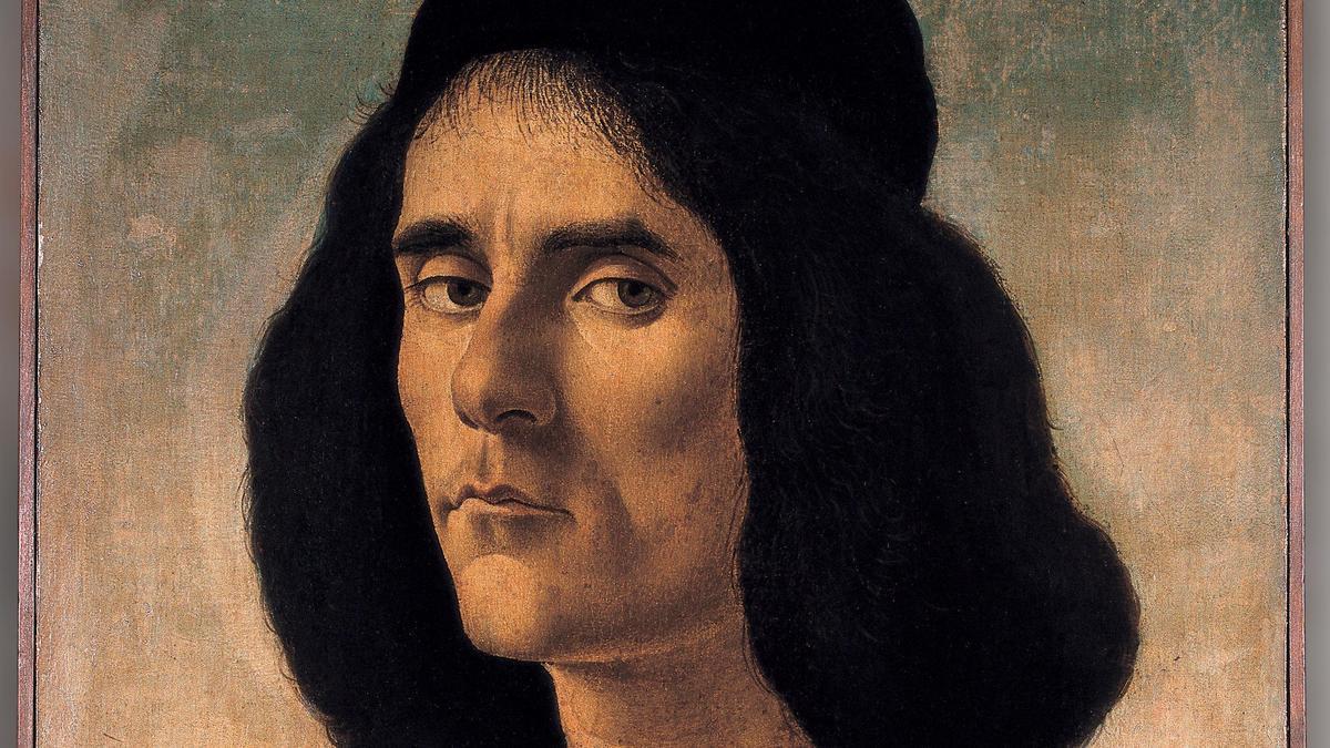 Michele Marullo Tarcaniota visto por Botticelli.
