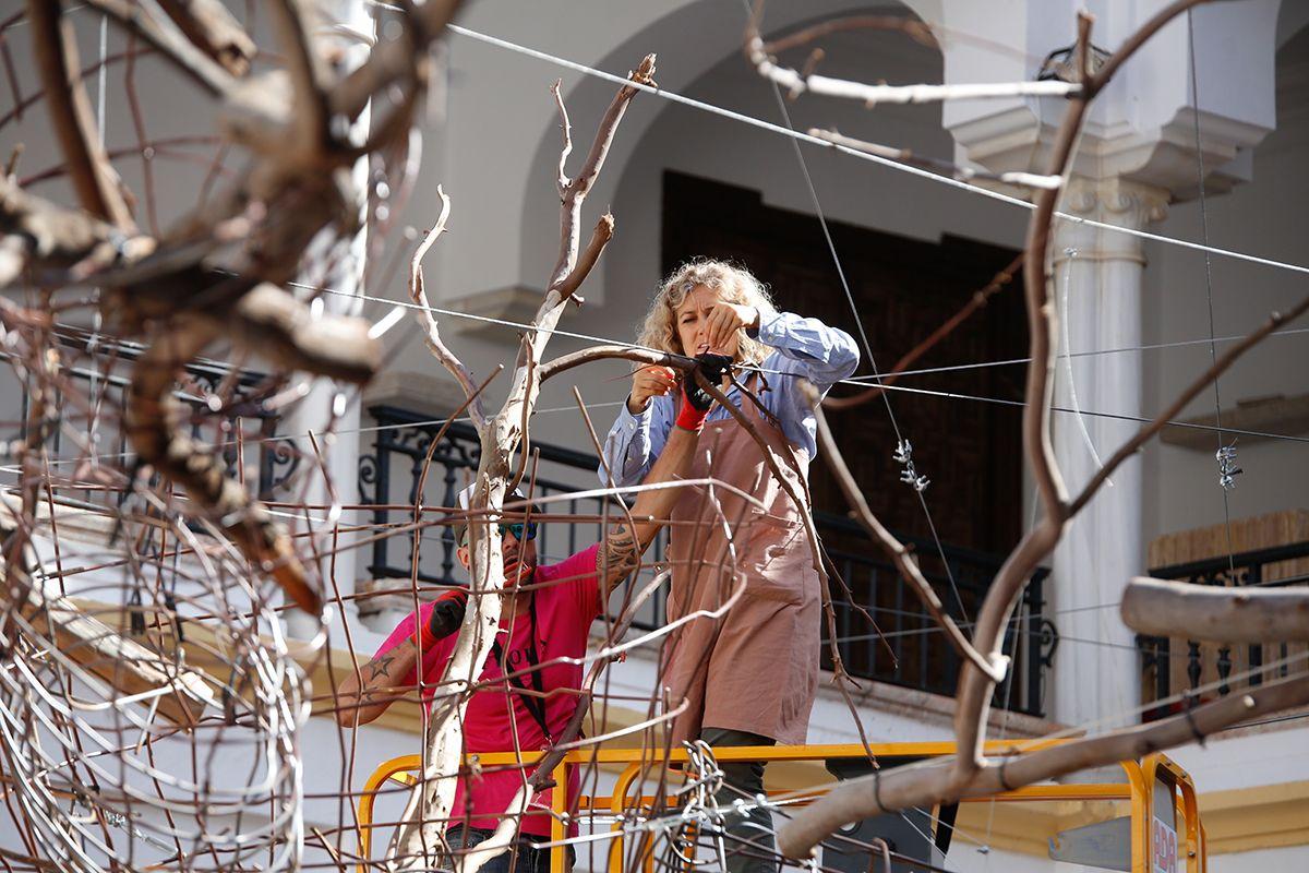 Inés Urquijo y Nuria Mora lideran los preparativos en la instalación del Museo Arqueológico