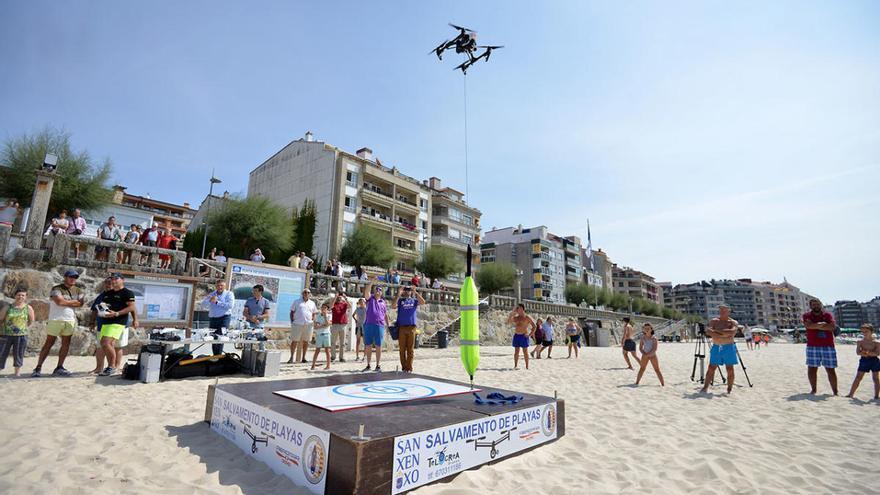 Sanxenxo usará drones para alertar sobre el nivel de ocupación de sus playas