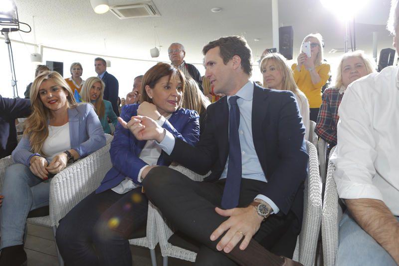Mitin de Pablo Casado e Isabel Bonig en València