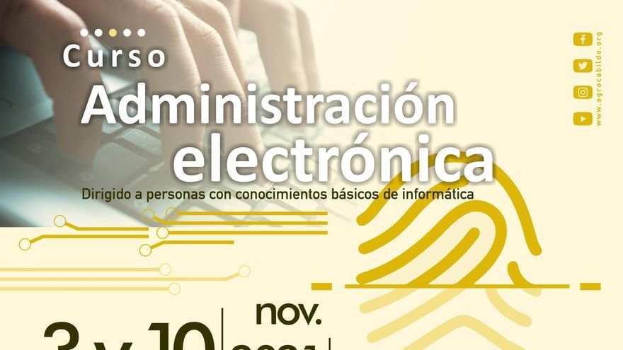 Agrocabildo organiza un curso gratuito sobre Administración Electrónica en Tamaimo