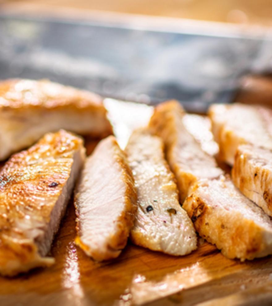 Hühner-Streifen mit Mandelkruste und Süßkartoffelpüree