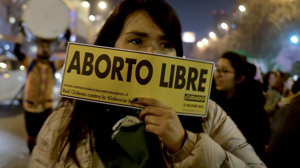 Imagen de archivo de una protesta a favor de la legalización del aborto.