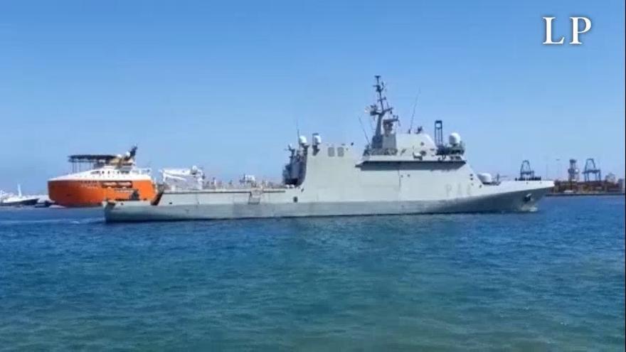 El buque 'Tornado' de la Armada zarpa en misión de vigilancia hacia África