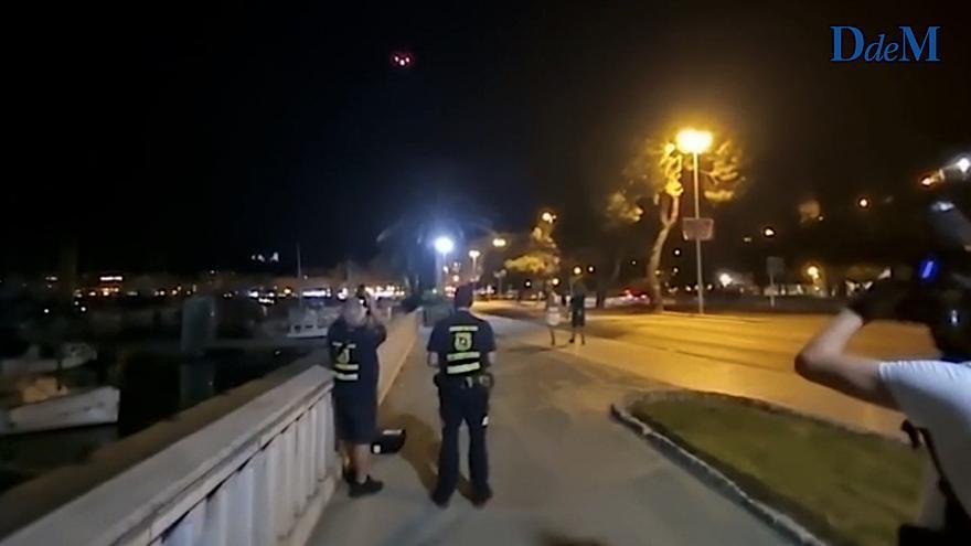 La Policía Nacional investiga si hubo irregularidades al usar un dron del Govern para controlar el botellón en la Playa de Palma