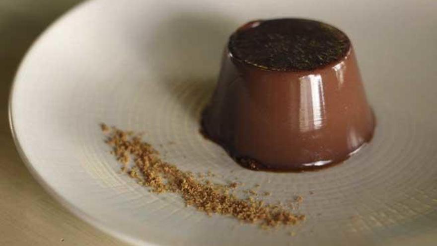 Flan de cacao