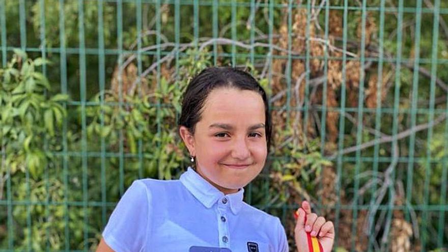 La toresana Lucía Sánchez, campeona de España de equitación en la prueba de cross
