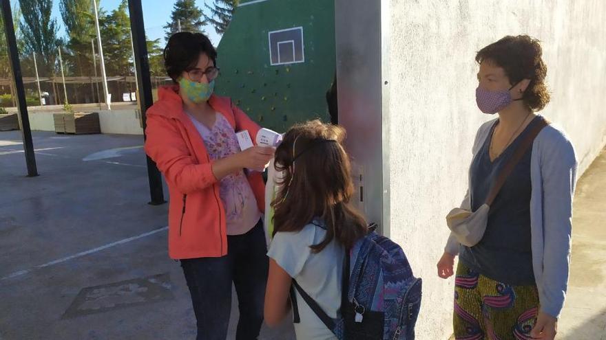 Primer dia de classe a l'Escola El Vinyet de Solsona