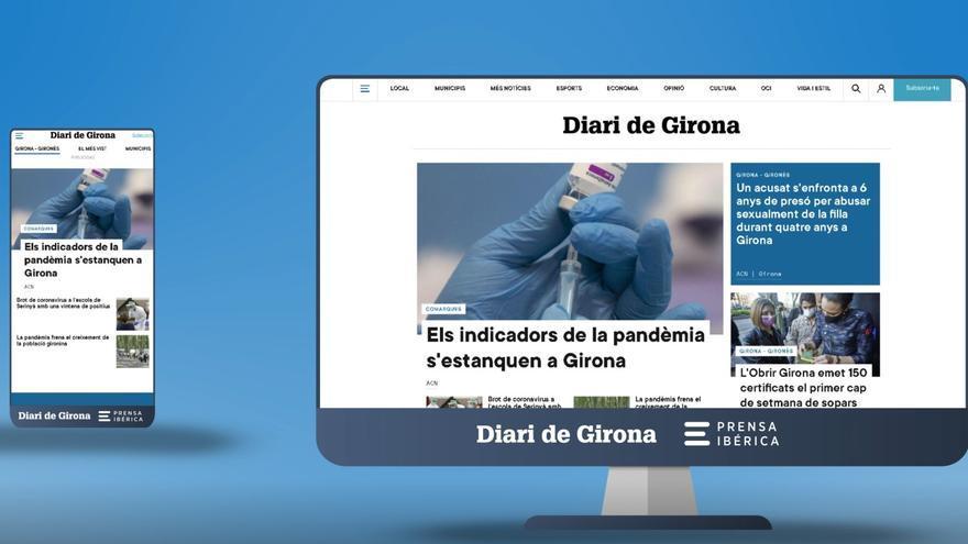 La web de DIARI DE GIRONA estrena disseny, una experiència multidispositiu més dinàmica i senzilla