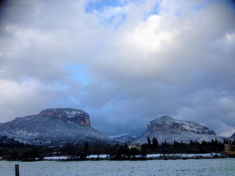 Schnee auf Mallorca.