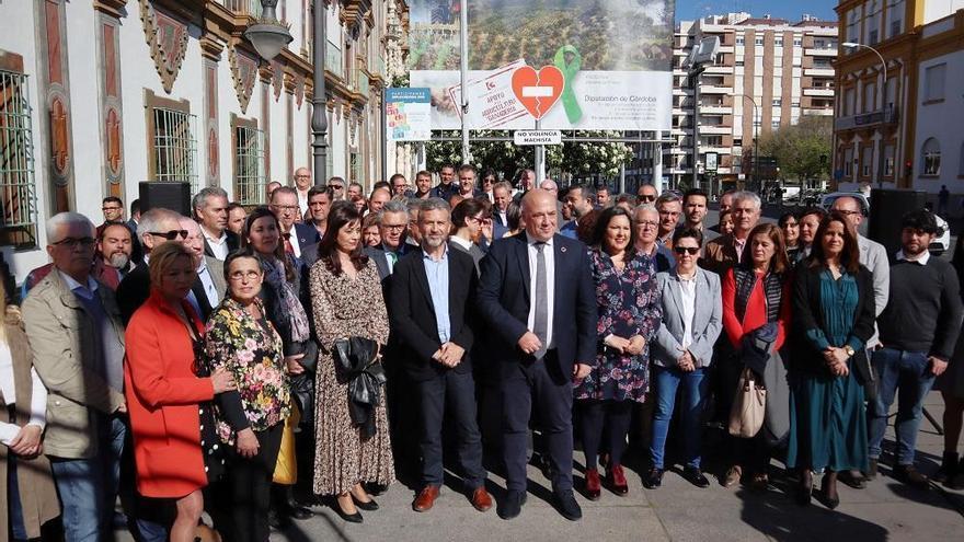 La Diputación y más de 60 alcaldes se manifiestan en defensa del sector agrícola