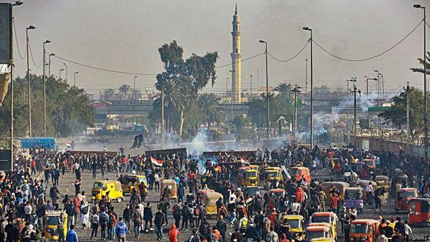 Almenys dotze morts durant els tres darrers dies de protestes a l'Iraq