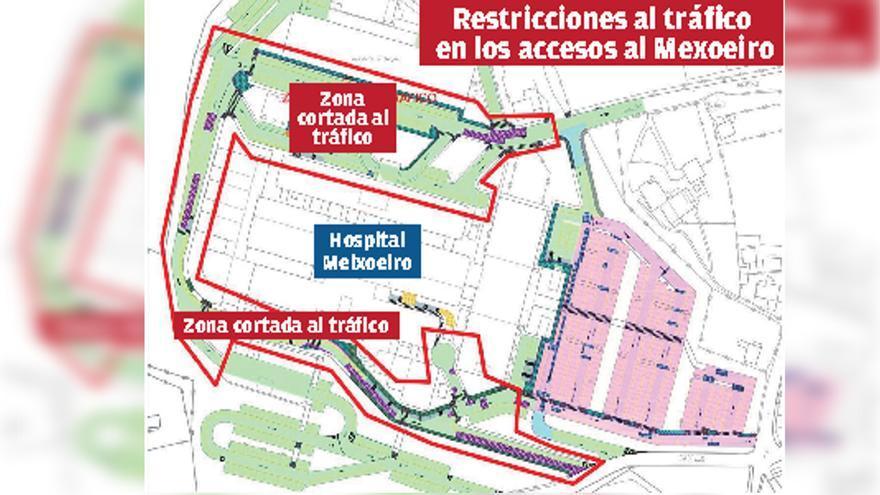 El asfaltado de los accesos al Meixoeiro provocará cortes de tráfico esta semana