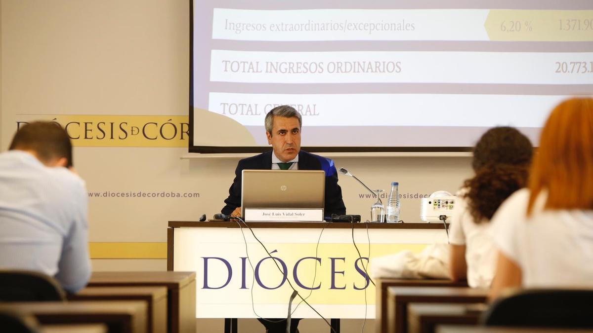 El ecónomo de la Diócesis de Córdoba José Luis Vidal.