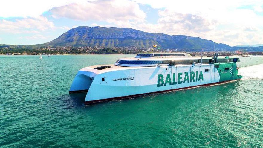 Baleària estrena su buque insignia bajo en emisiones y ultrarrápido