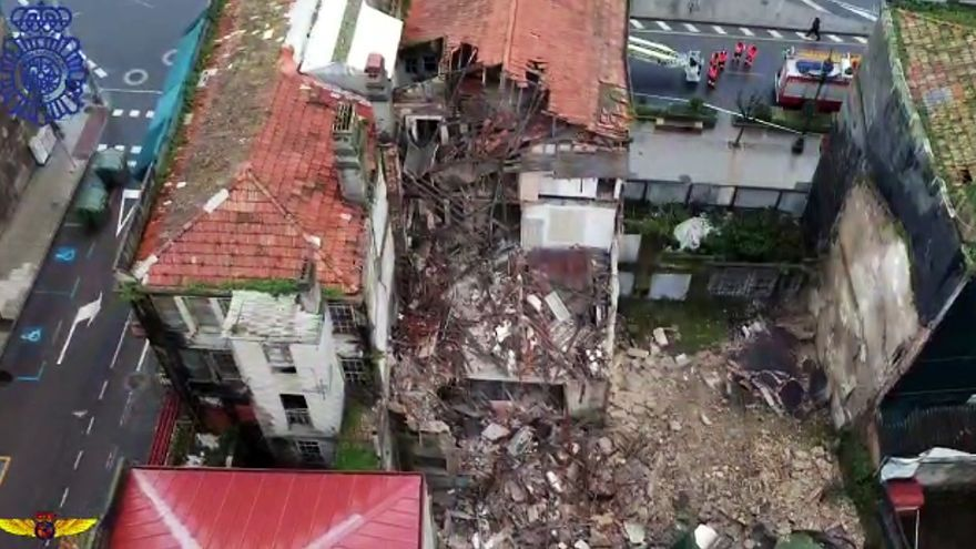 Derrumbe de una fachada en Areal