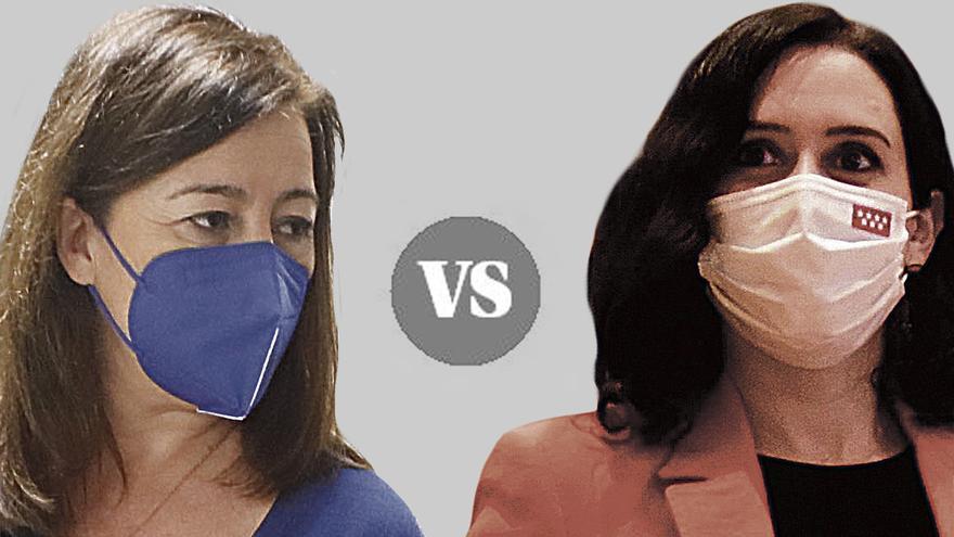 Armengol vs Ayuso: dos maneras de gestionar la pandemia