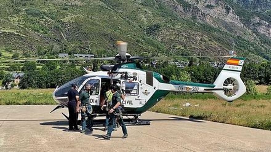 Rescaten dos empresaris manresans ferits en un accident d'avioneta