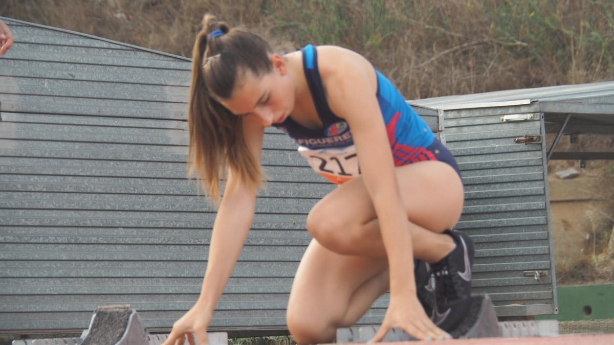 Jana Brusés ha acabat quarta en el campionat d'Espanya sub18 als 100m.
