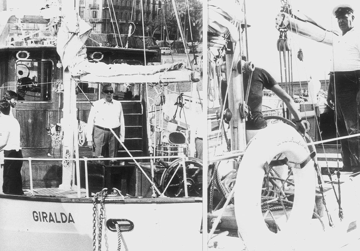 El Giralda atracó en la ciudad con Alfonso XIII y la regente María Cristina a bordo