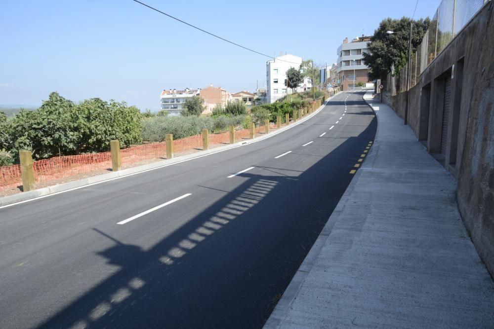 El camí de la Gravera disposa d'una vorera des de l'any passat.