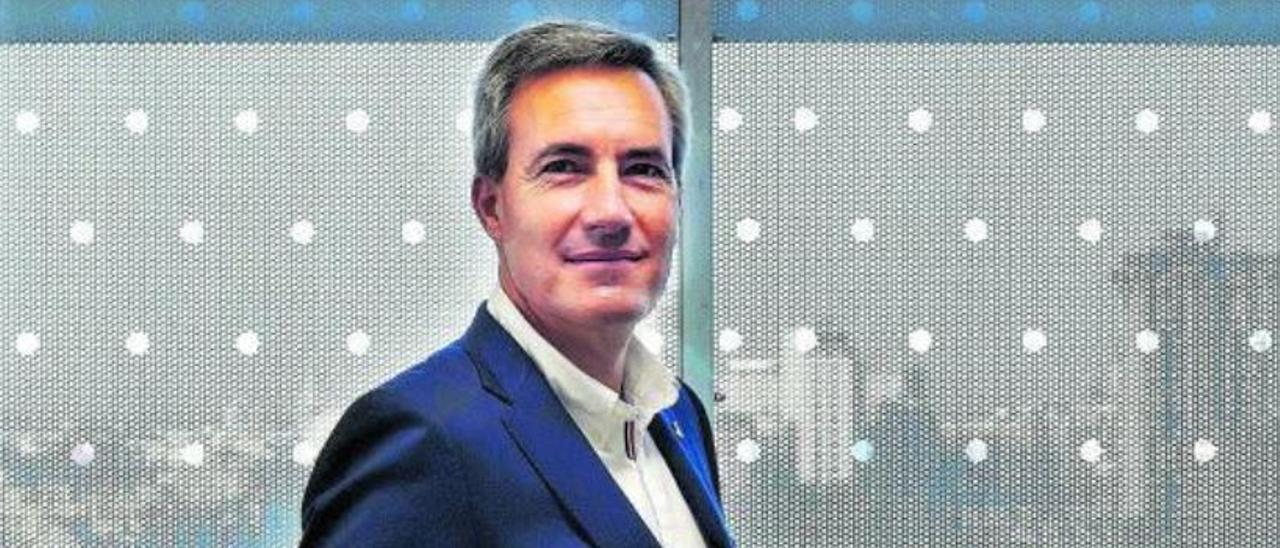 El consejero delegado de Ilunion, Alejandro Oñoro, en su despacho | David Castro