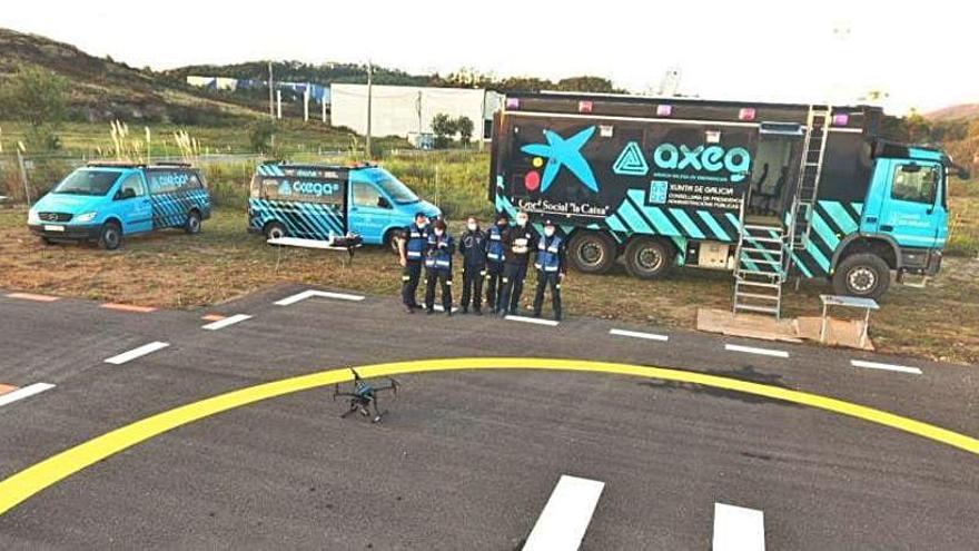 La Axega prueba nuevos drones sobre el terreno