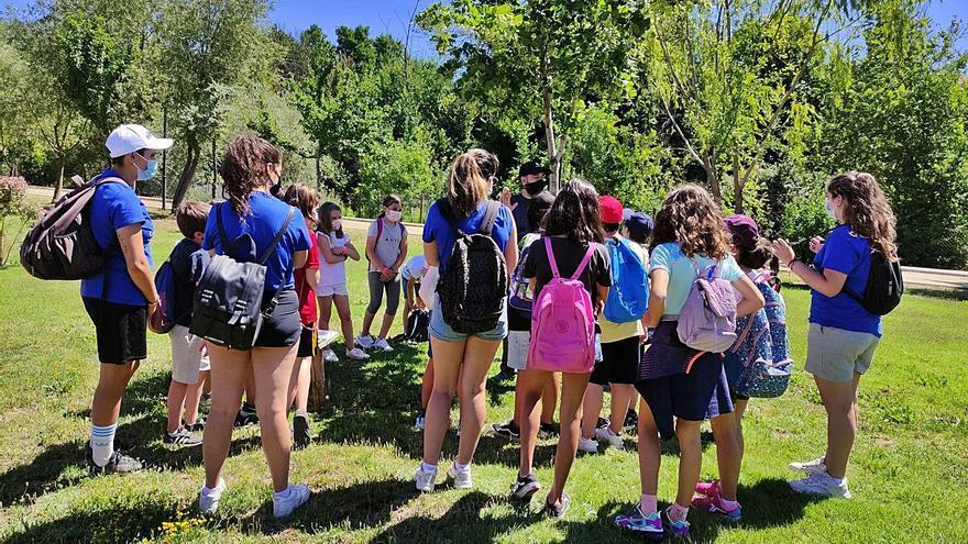 Los niños del Campamento Urbano de Benavente visitan el jardín del Prado de las Pavas
