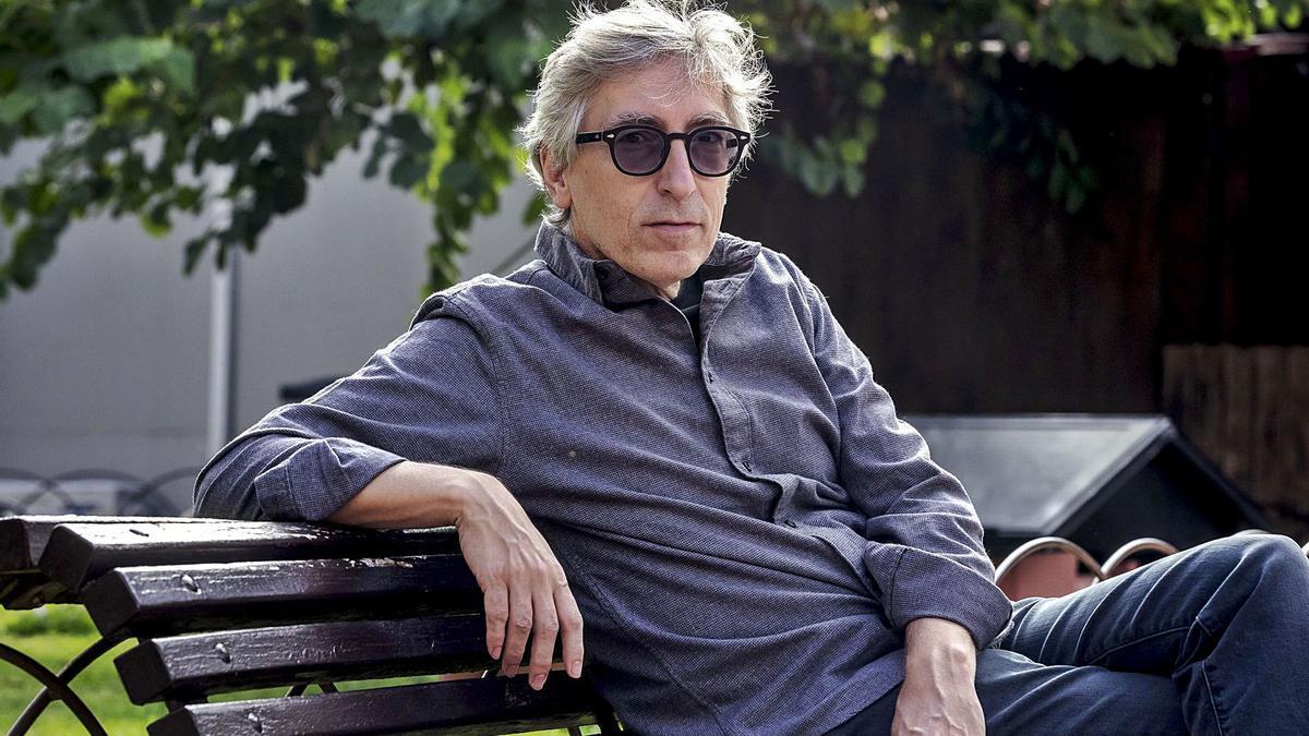 El cineasta David Trueba, ayer, en el Escorxador de Palma.