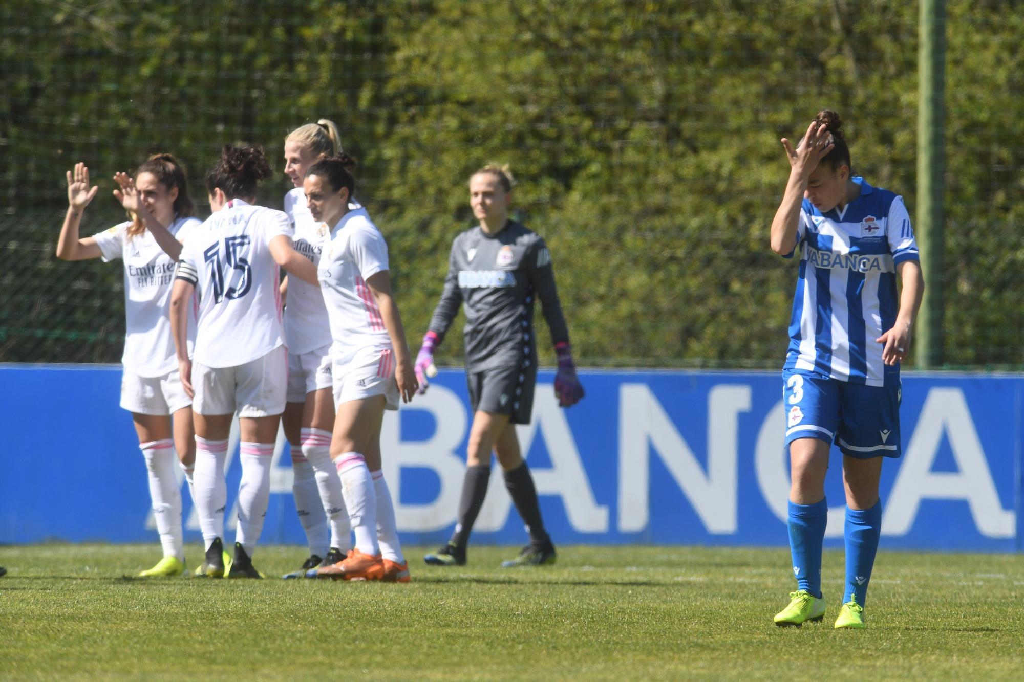 El Dépor Abanca cae 0-2 ante el Madrid en Abegondo