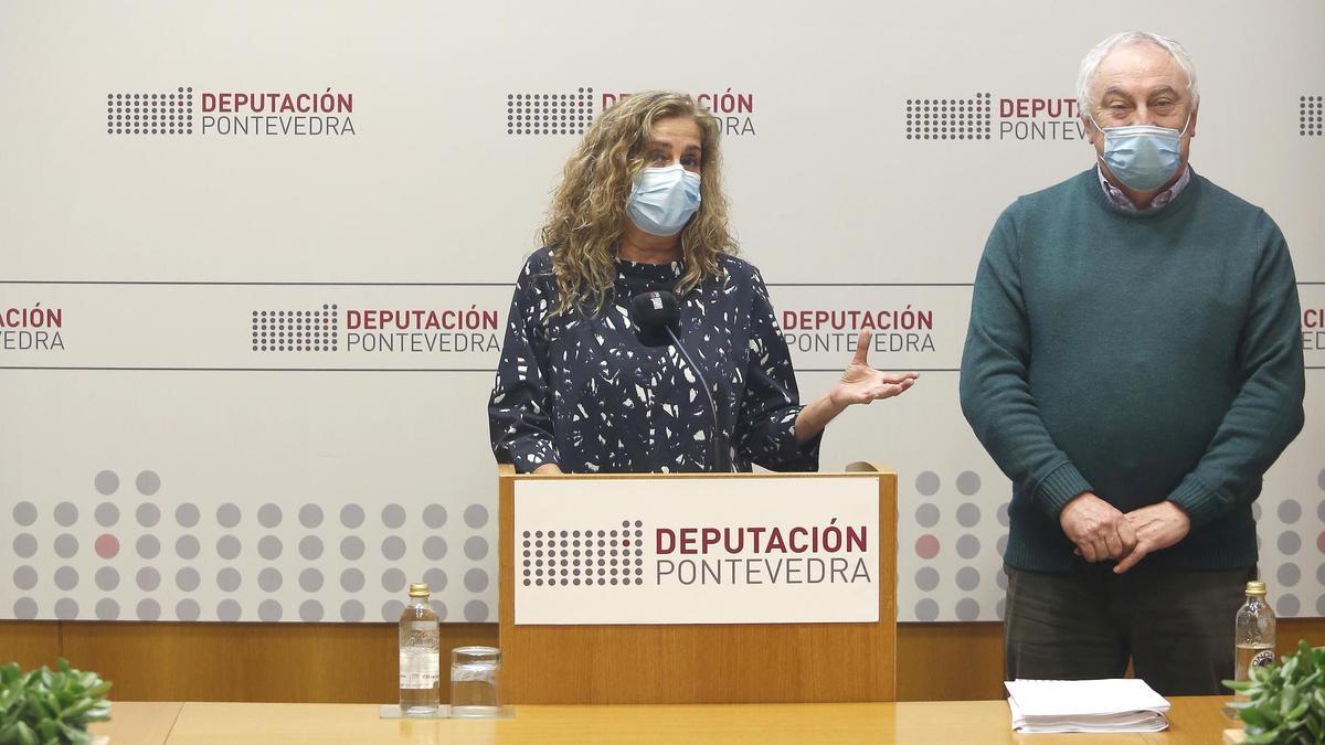 Carmela Silva y César Mosquera