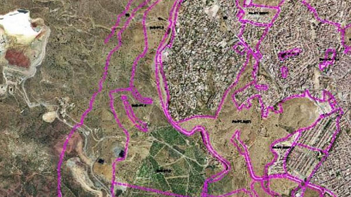 Un plano del Lagar de Oliveros, al Norte del Puerto de la Torre.