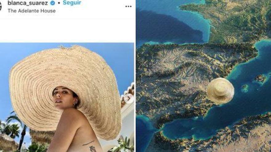 El topless de Blanca Suárez y el meme viral de sus vacaciones en Xàbia