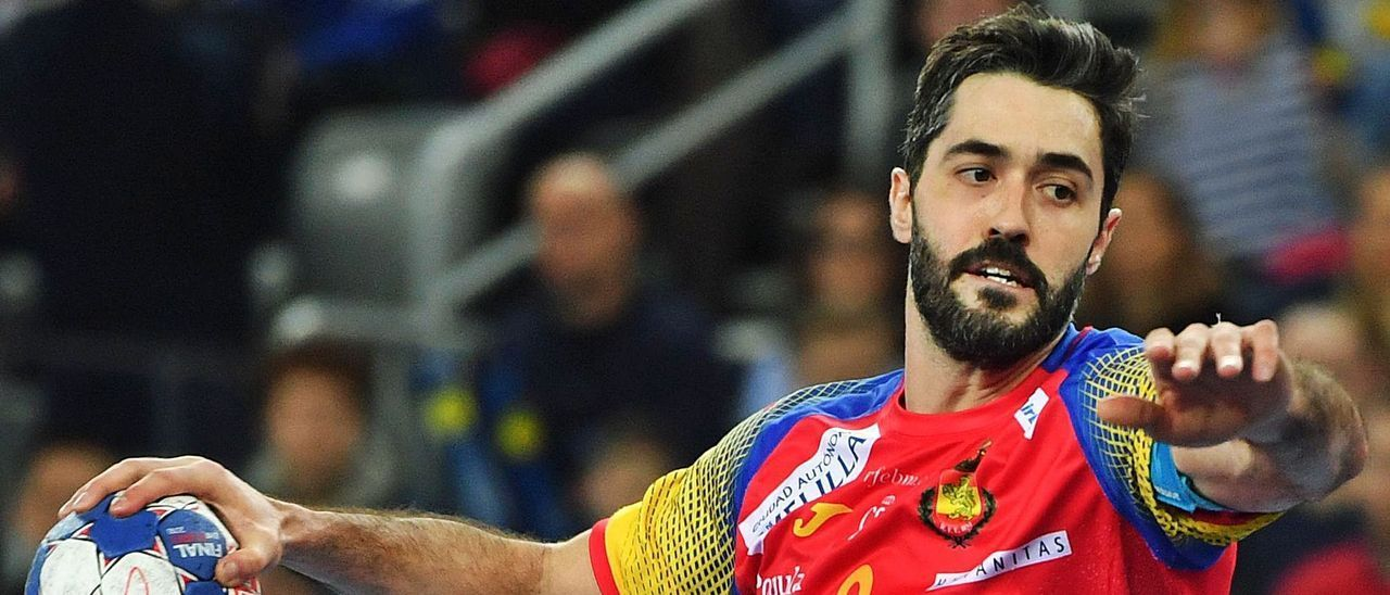 Raúl Entrerríos, en un partido con la selección española.e