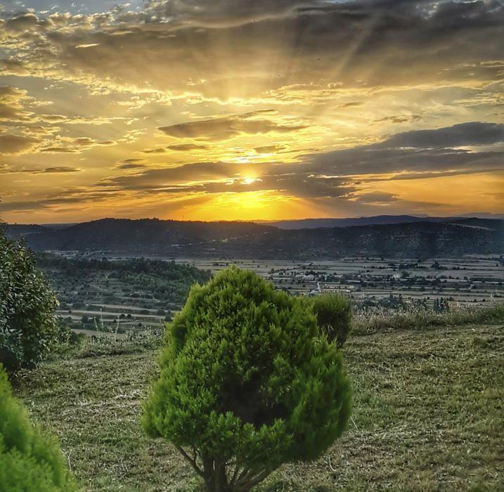 Posta de sol a Cardona