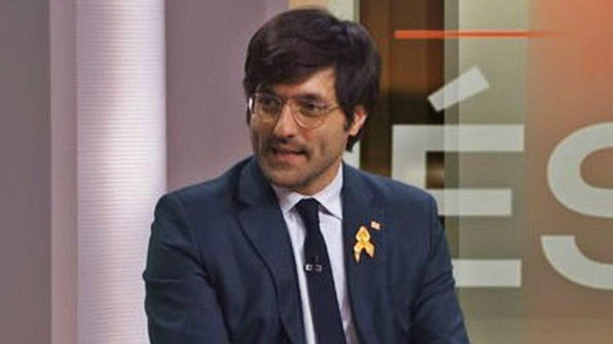 Joan Maria Piqué, en una entrevista al canal 3/24.   DIARI DE  GIRONA