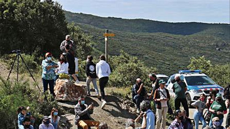 Protesta al coll de Banyuls pel «ridícul» bloqueig de la frontera