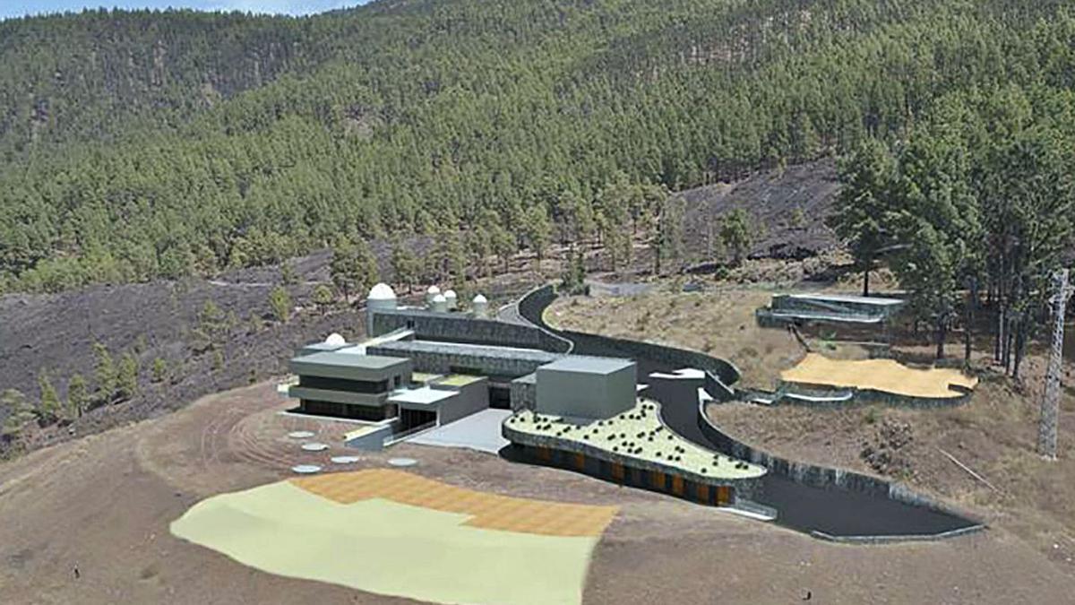 Así será el Centro Ambiental y Recreativo de Mendo, en el paraje natural protegido de Tamanca.     E.D.