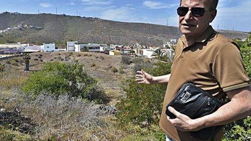 'Peligro' de reboso en  el barrio de Marzagán
