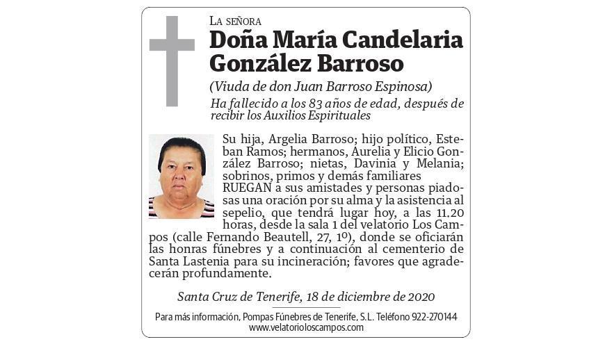 María Candelaria González Barroso